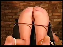Girl takes a genuine and painful caning tubes