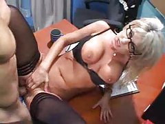 Sexy blonde in glasses insists on getting fucked tubes