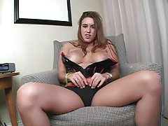 Busty chick wants to help you jerk off tubes