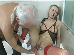 Old dude plays with milf in fun scene tubes