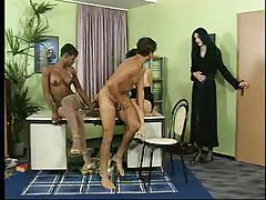 Interracial foursome with three hot sluts tubes
