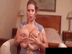 Huge tits girl in front of her webcam tubes