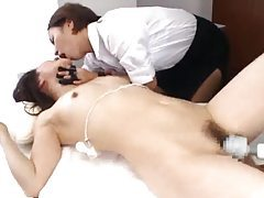 Fun-filled massage scene with Japanese girl tubes