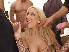 Gina Lynn blows a ton of guys tubes