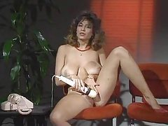 Legendary Christy Canyon masturbates tubes