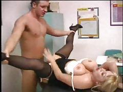 Curvy teacher Kandi Cox and student go at it tubes