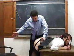 Schoolgirl likes it when the teacher licks her tubes