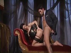 Girl in smoking hot corset has anal sex tubes