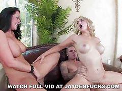 Jayden Jaymes and Sarah Vandella threesome tubes