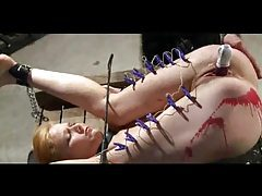 Pain and toy penetration for her tubes