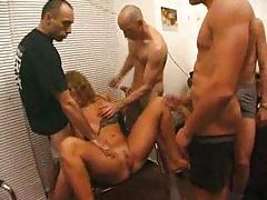 Busty girl does gangbang for some loving tubes