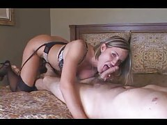 Lusty busty slut fucked in her bed tubes