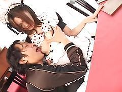 Asian French maid girl suck and fuck slut tubes