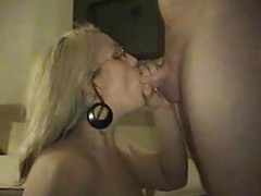 Amateur blonde girlfriend sucking long cock tubes