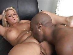 Blonde slut lets black guy ram her body tubes