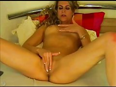 Solo slender blonde in sexy webcam show tubes