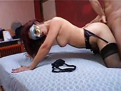 Hot milf in stockings anal doggystyle tubes