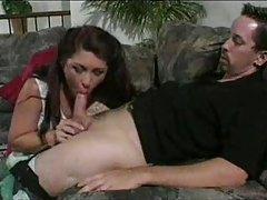 Seductive older woman gets inside his pants tubes