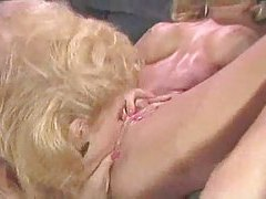 Blonde lesbians in 80s porn scene go at it tubes