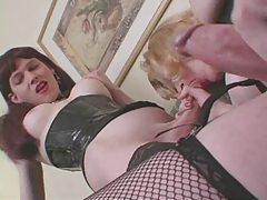Two hot shemales get together for oral and masturbation tubes