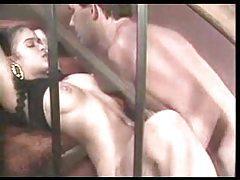 Naughty slut having sex on the stairs tubes