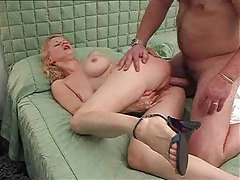 Blonde and her great tits in a porn fuck scene tubes