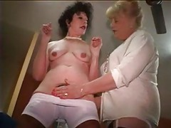 Mature chicks getting dressed for work tubes