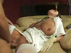 Nurse with big tits takes a big cock tubes