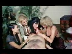 Retro porn with three sluts and a horny stud tubes