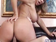 Adorable big tit chick sucks before cock riding tubes