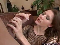 Stunning blowjob girl swallows all his jizz tubes