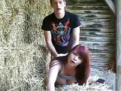 Amateur redhead fucked by her man outdoors tubes