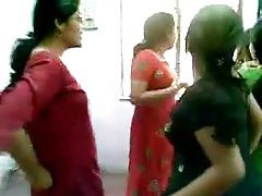 Indian girls in dresses dance it up tubes