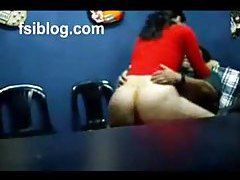 Fat chick and fat dude fuck in office tubes