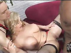 Big titty blonde babe cuckolds him tubes