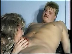 Big hair blonde fucks and takes cumshot tubes