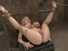 Super busty rope bondage slut tubes