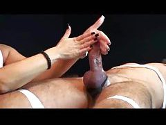 Slow handjobs make him cum tubes