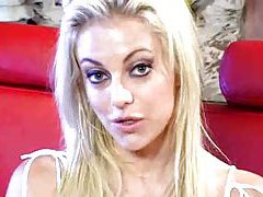 Blonde with two guys is a real squirter tubes