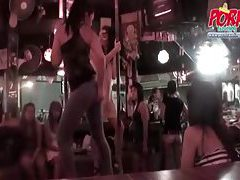 Girls pole dancing and they look hot tubes