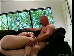 Two men make horny blonde happy tubes