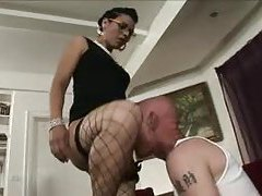 Tranny nails her man from behind tubes