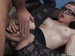 Tiffany Star wears hose and takes boner tubes