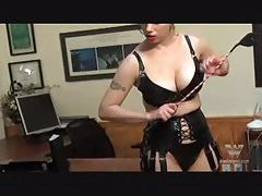 Lesbian is caned by her mistress tubes