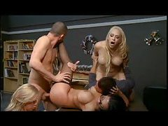 Exciting orgy scene in the classroom tubes