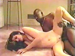 Big black dick stretches cute Latina chick tubes