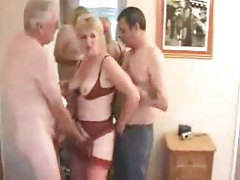 Mature wife and hubby joined by new man tube