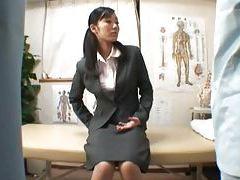 Japanese secretary wants sex during her massage tubes