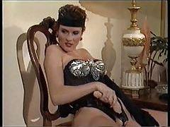 Glamorous retro lesbians have strapon sex tubes
