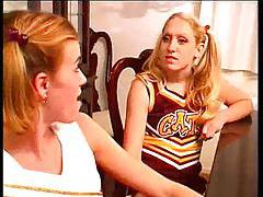 Two cheerleaders have sex with mature coach tubes